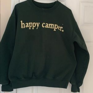 "Gildan ""Happy Camper"" fun sweatshirt sz M"